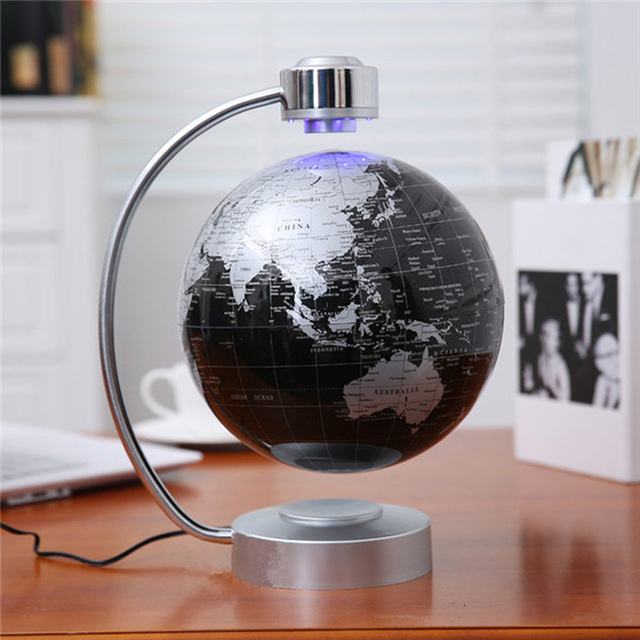 8 Inch Electronic Magnetic Levitation Floating Globe World Map with     8 Inch Electronic Magnetic Levitation Floating Globe World Map with LED  Lights for Boyfriend Christmas Gift