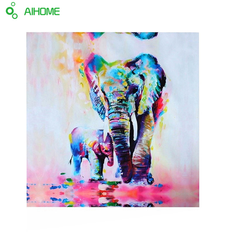 Animal Elephant With Son Canvas Painting HD Gedrukt Canvas Art Muur Pictures Voor Woonkamer Interieur Unframed