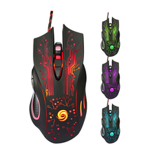 Promotion 3200DPI LED Optical 6D USB Wired Gaming Game Mouse Pro Gamer Mice For Gaming Professional Players