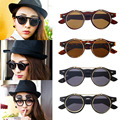 1pc Classic Steampunk Goth Glasses Goggles Round Flip Up Sunglasses Retro Vintage Fashion Accessories 2016 Hot