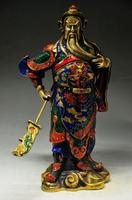 EXQUISITE CHINESE CLOISONNE COPPER HANDMADE STATUES