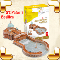 New Year Gift ST.Peter's Basilica 3D Puzzle Model Large Building Big Education Toy IQ Assemble Game Adult Puzzle Home Decoration