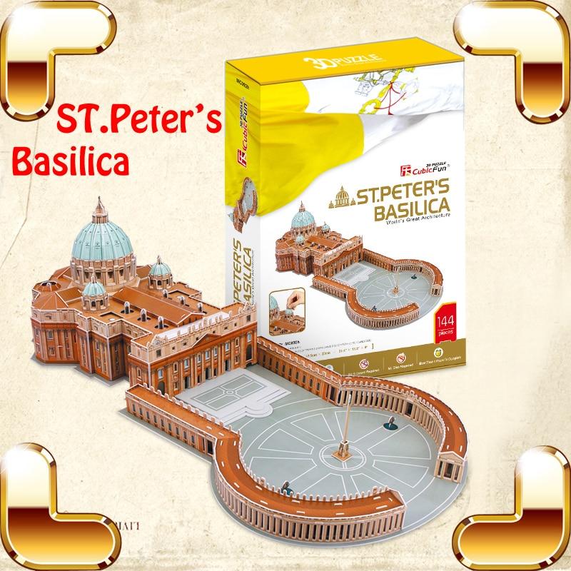 Nouvel an cadeau ST. pierre basilique 3D Puzzle modèle grand bâtiment grand jouet éducatif IQ assembler jeu adulte Puzzle décoration de la maison