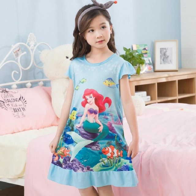 296854a506cac US $10.83 |Kids Sleep Dress New 2018 Summer Princess Cartoon Dresses Girls  Nightdress Cotton Children Nightgowns Lovely Girl Gift-in Nightgowns from  ...