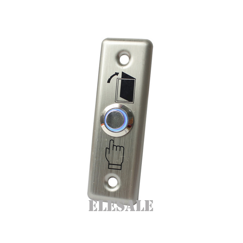 Stainless Steel Exit Button Push To Exit Switch Door Opener With Backlight Led For Magnetic Lock Access Control Home Security