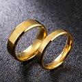Мужское и женское кольцо из титана, 4 мм, 6 мм
