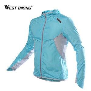 Image 2 - Ветровка велосипедная WEST BIKING с длинным рукавом, спортивная уличная куртка, ветрозащитная водонепроницаемая одежда