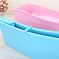 A Pink Blue PP+TPE folding bath tub For Kids baby Plastic bathtub Safety material 77.5*41*29.5cm