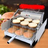 Commercial automatic Hamburger machine Hamburger baking machine Hamburger furnace Heated toaster machine