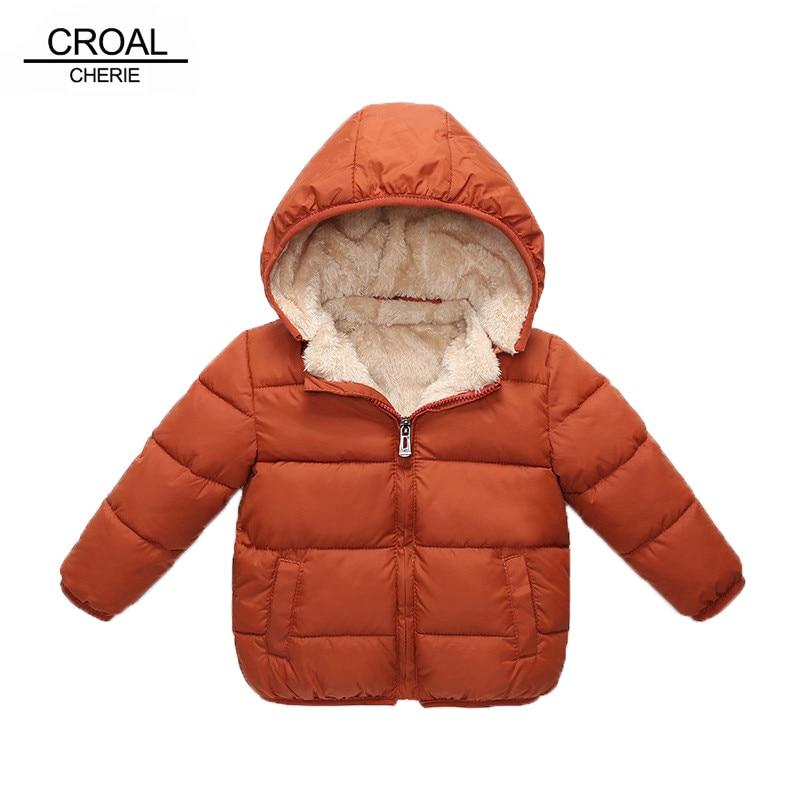 CROAL CHERIE Children's Parkas Winter Jacket For Girl Boys Winter Coat Kids Warm Thick Velvet Hooded Baby Coats Outerwear 90 130 Down & Parkas     - title=