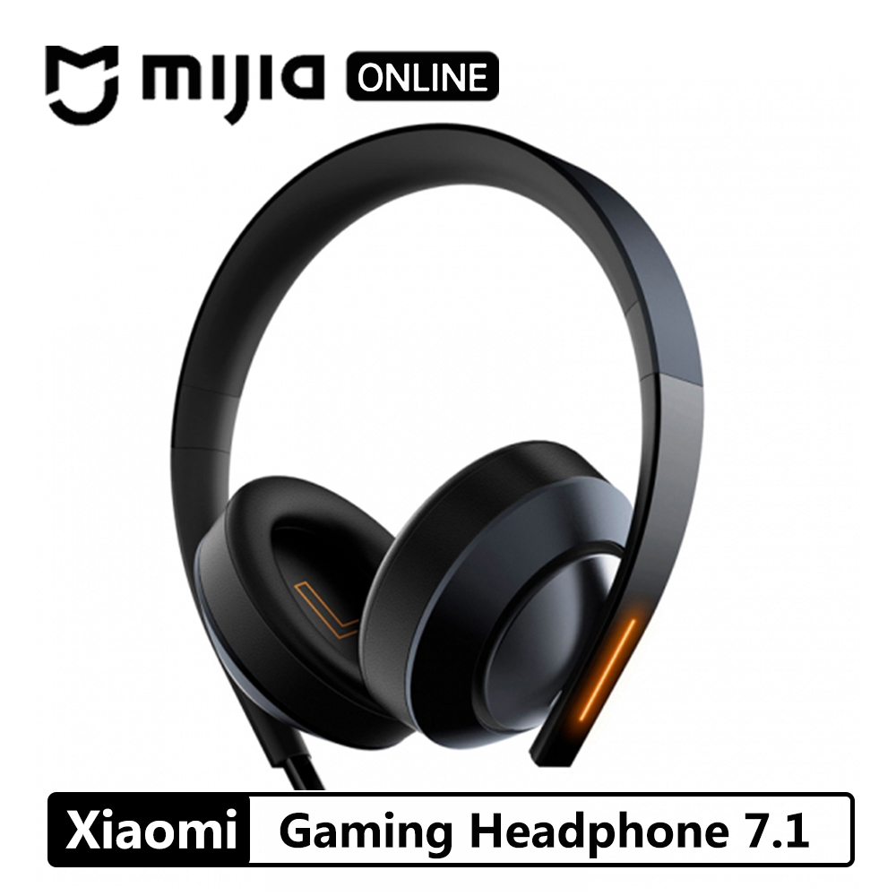 Xiaomi Mi Gaming Headphone 7.1 Virtual Surround Stereo With Backlit Anti noise Headset Stereo Heavy Bass For PC Laptop Phone-in Headphone/Headset from Consumer Electronics    1
