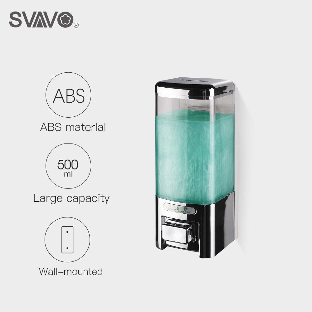 Free Shipping 500ml Bathroom Shower Shampoo Hand Lotion Liquid Soap Dispenser  Wall Mounted Single Manual Soap Dispenser