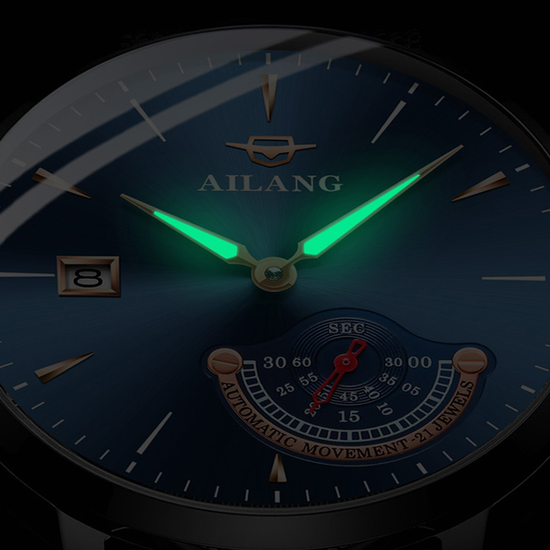 AILANG Gentleman watch expensive mechanical man Minimalist style watch stainless steel automatic clock swiss diver watches men