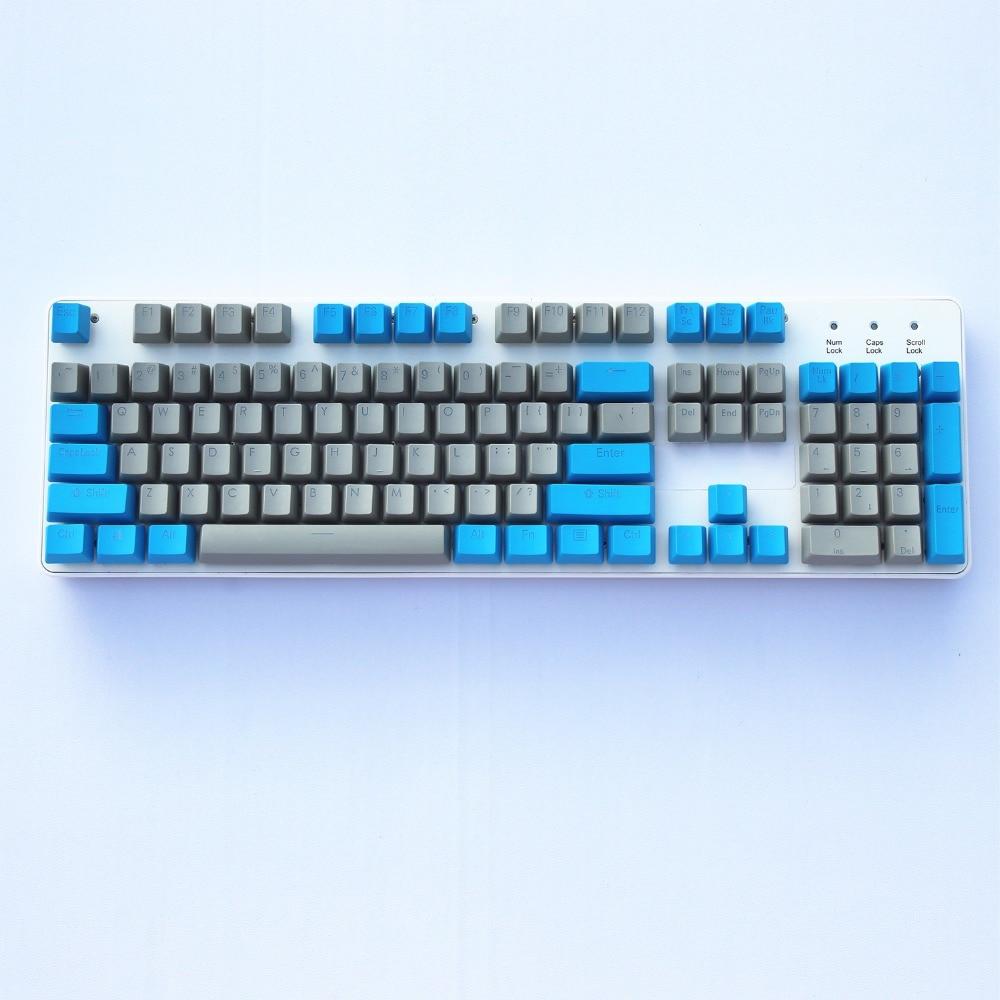 Red/Grey Blue/Grey 108 Double-shot Backlit PBT Keycap For Cherry Keycool/ NOPPOO Ducky PLU Filco MX Switches Mechanical Keyboard