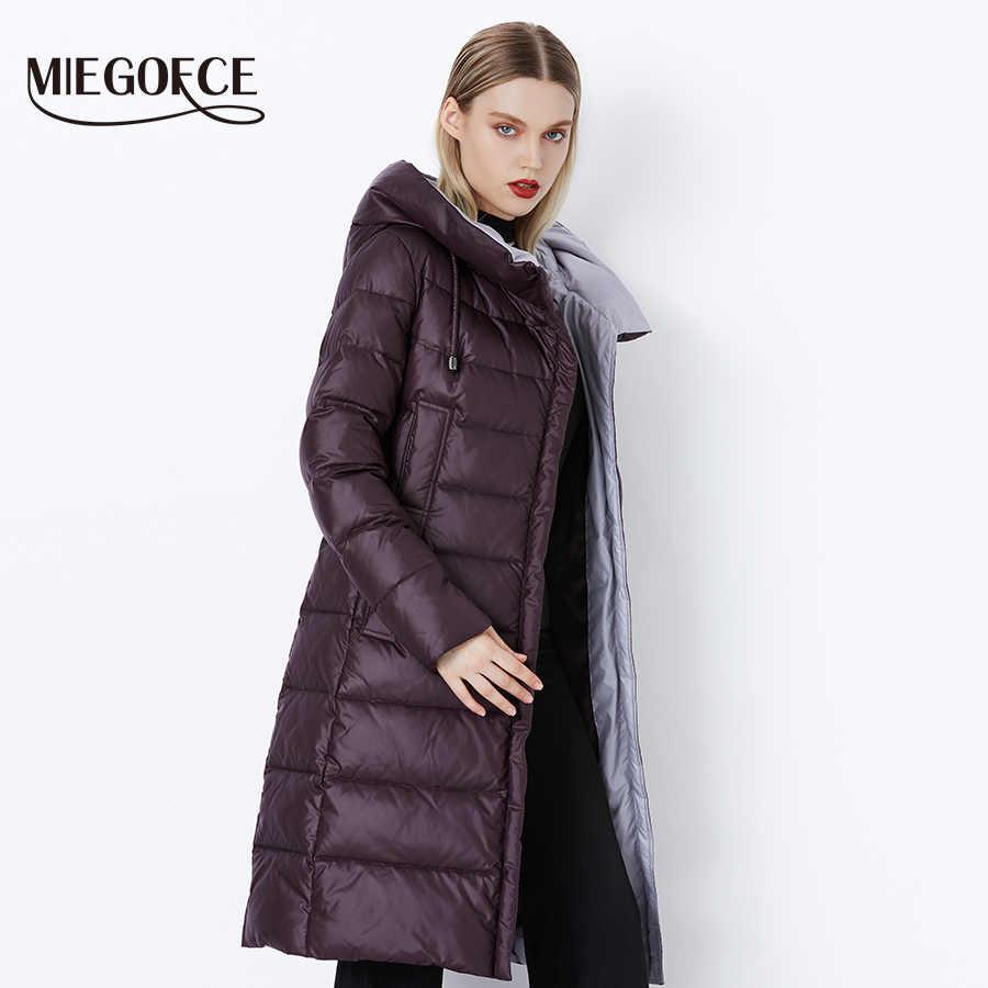 MIEGOFCE 2019 abrigo chaqueta de invierno para mujer con capucha cálido Parkas Bio Fluff Parka abrigo de alta calidad para mujer nueva colección de invierno caliente