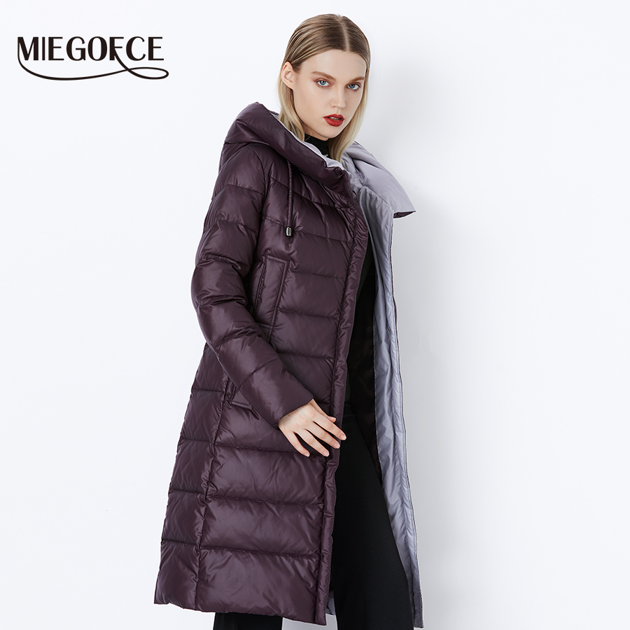 MIEGOFCE 2020 Coat Jacket Winter Women s Hooded Warm Parkas Bio Fluff Parka Coat Hight Quality