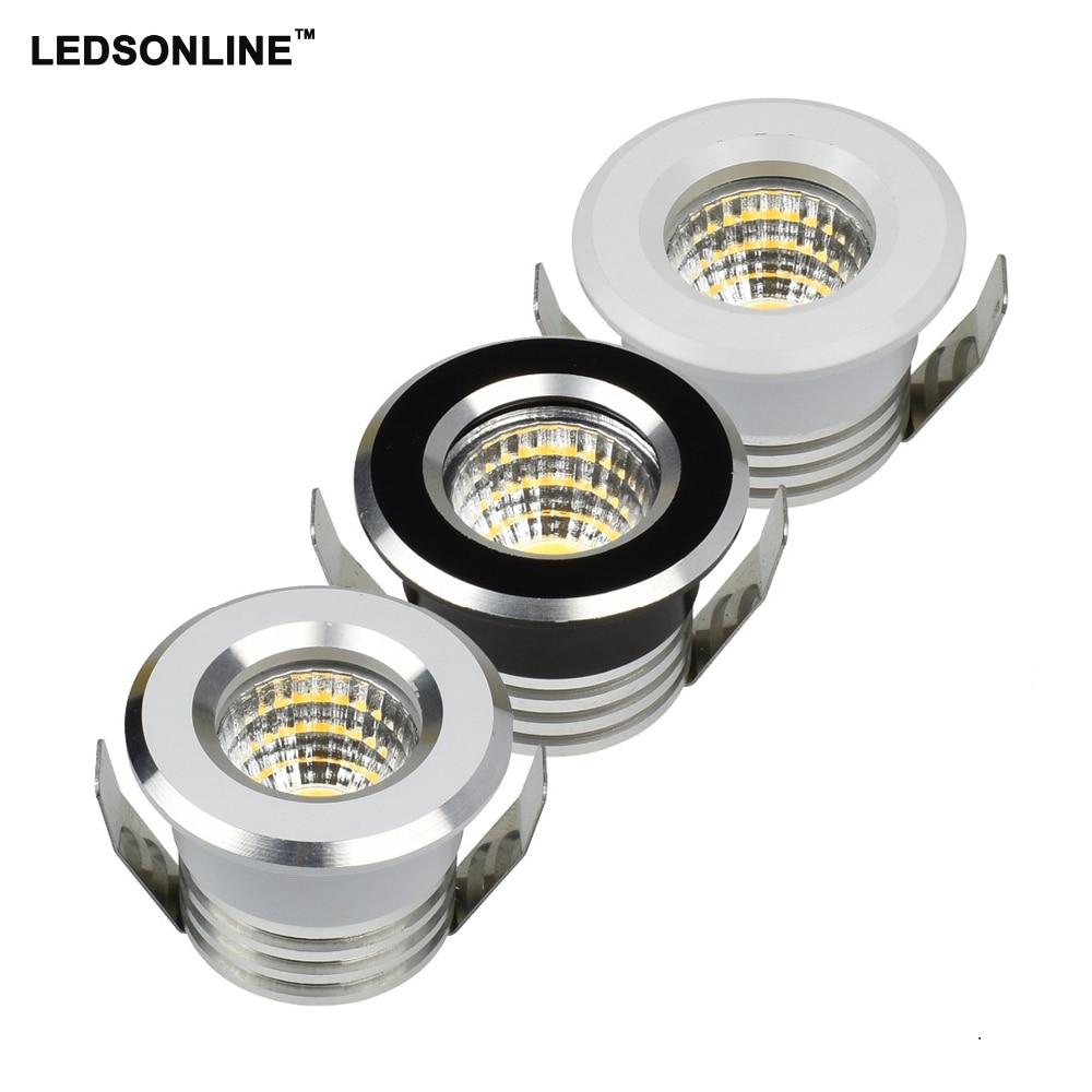 30pcs / lot MINI LED zapuštěná lampa svítidla 3W COB epistar led - LED Osvětlení