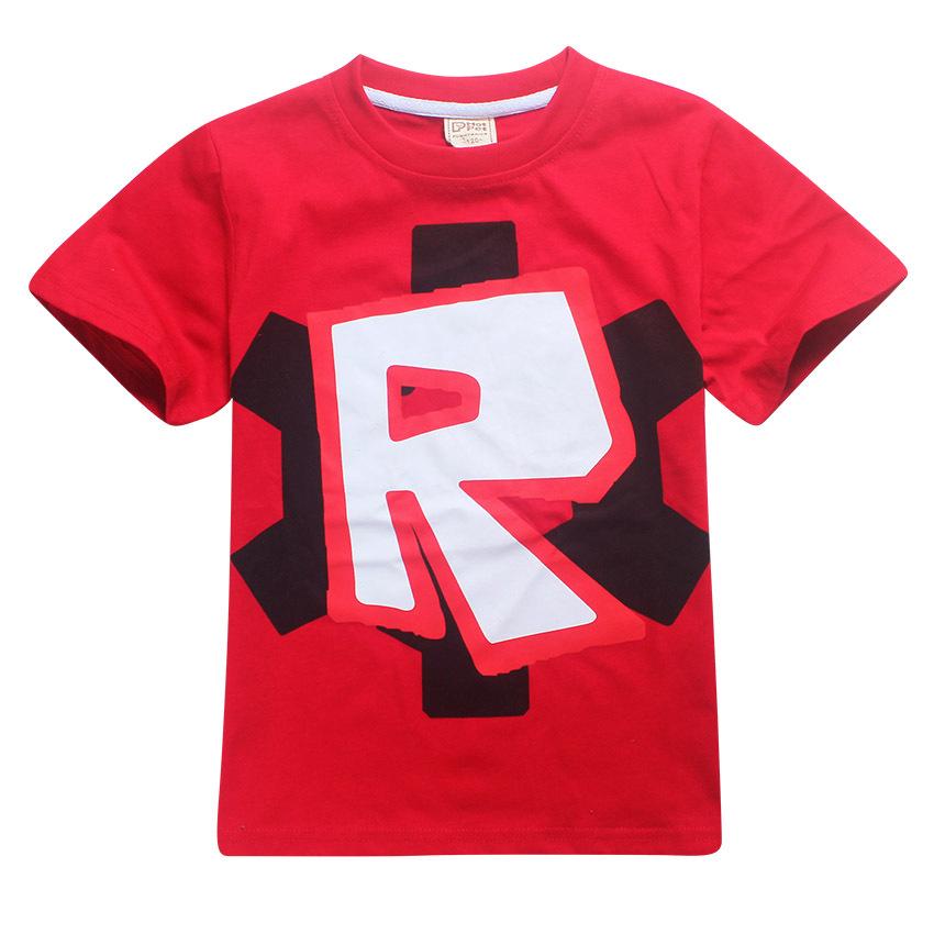 HTB1A8COQpXXXXXuXpXXq6xXFXXXe - Cute T Boys Girls T-shirt Baby Clothing Little Boy Girl Summer Shirt Cotton letter R printing Robot Tops Tees Clothes 4-12 years