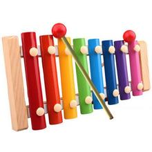 8 scales Tune xylophone and whistle baby early childhood education wooden musical instrument toys trailer Musical Toys