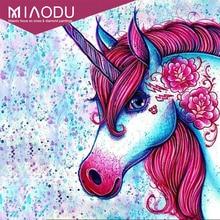 Miaodu princesa Pony unicornio diamante pintura punto de cruz diamante bordado 5D Diy dibujos animados diamante mosaico imagen diamantes
