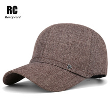 [Rancyword] New Dad Hat Solid Baseball Cap For Men Hats With Adjustable Buckle Fathers Day Gift RC1038