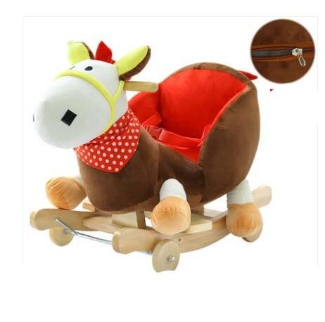 Balançoire bébé peluche cheval jouet chaise à bascule bébé videur bébé balançoire siège extérieur bébé pare-chocs enfant Ride On jouet poussette à bascule jouet - 6