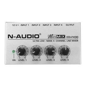 Image 2 - LEORY Professional 4 Channel Audio DJ Mixer Mini Sound Mixing Console Metal Silver Low Noise DJ Mezclador For Audio PC Home KTV