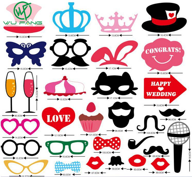 Mustache On A Stick Wedding Party Photo Booth Props Photobooth Funny