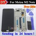 Alta qualidade new meizu display lcd + digitador da tela de toque assembléia para meizu m2 note celular 5.5 polegada preto com quadro