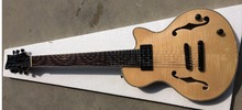 high quality flame maple top neck through 7 string jazz electric guitar