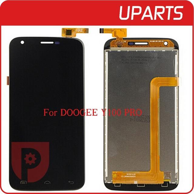 Top qualidade para doogee y100 pro display lcd + de toque Assembléia tela LCD Digitador de Vidro Substituição Do Painel MTK6735 Quad Core 4G