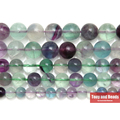 "Free Shipping Natural Stone Colorful Fluorite Round Loose Beads 15"" Strand 4 6 8 10MM Pick Size For Jewelry Making AB15"
