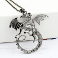 New Game Dragon The Elder Scrolls V Pendant Necklace Skyrim Choker Men Jewelry Necklace Chain(China)