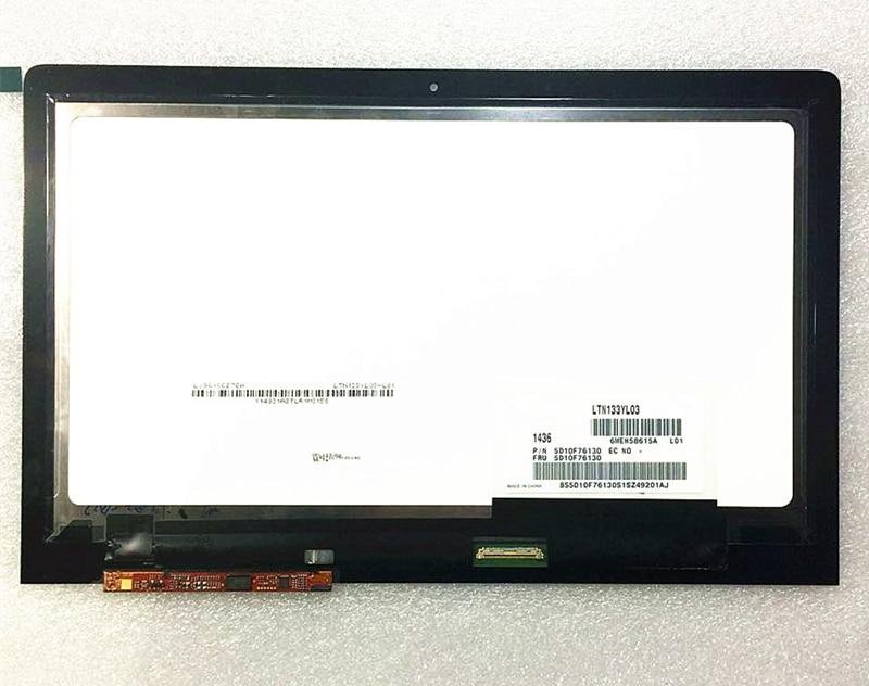 "13,3 ""LCD jutiklinio ekrano skaitmeninimo įrenginys + Bezel panelė LTN133YL03-L01 LTN133YL01 Lenovo Yoga 3 Pro 1370 80HE00F5US 3200 * 1800"