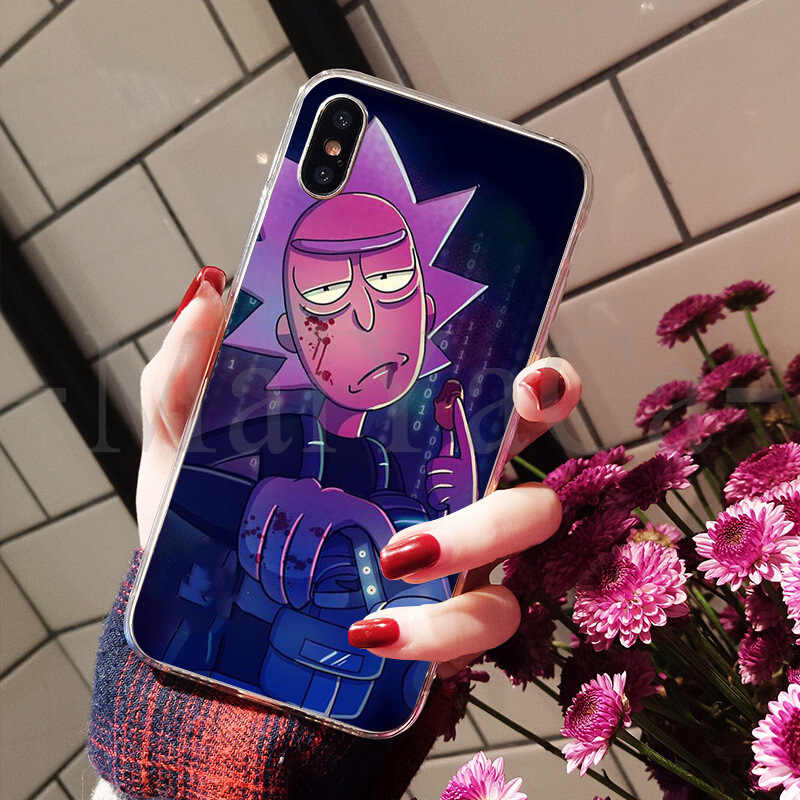 MaiYaCa Cartoon Rick And Morty On Sale! Luxury Cool phone Case for Apple iPhone 8 7 6 6S Plus X XS max 5 5S SE XR Cover