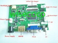 Vga 2AV VS TY2662 V2 40 /50ピンのpcコントローラボードラズベリーパイ3 EJ101IA 01G 8ビットips液晶ディスプレイドライバ