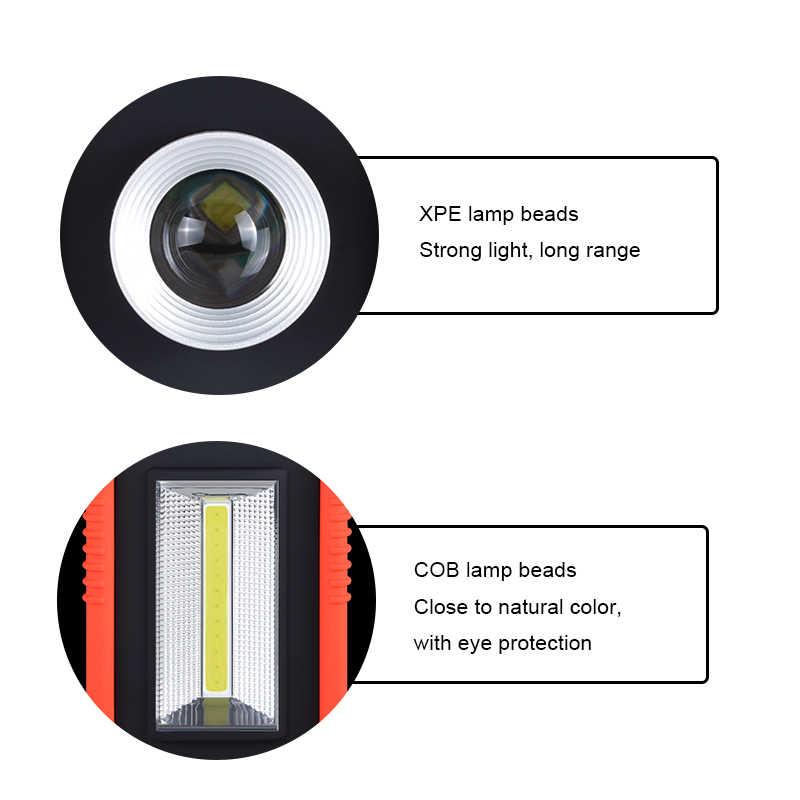 AmmToo portátil batería recargable COB luz Led impermeable IP44 trabajo al aire libre Camping luz de emergencia Led de iluminación para el hogar