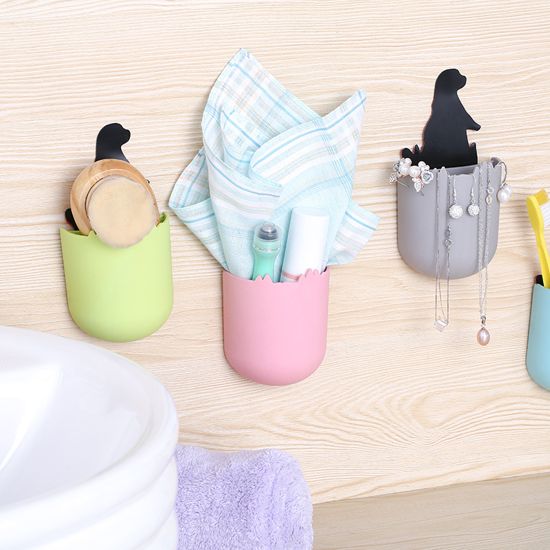 Creative Can Paste Detachable Small Sea Lion Toothbrush Toothpaste Holder Bathroom Towel Jewelry Debris Storage Organizers Boxes