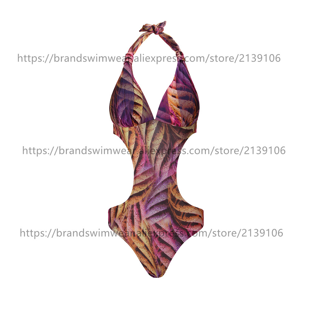 Special design real picture one piece soft and comfortable flower printing one piece swimwear five sizes