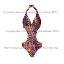 Especial diseño de imagen real de una pieza suave y cómodo cinco tamaños disponibles de las mujeres flor de la impresión de una pieza del traje de baño Bikini