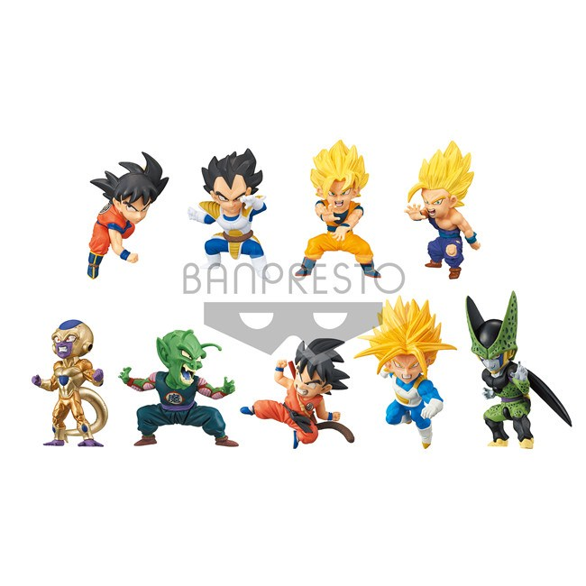 Dragon Ball Z Super WCF Series 4 Battle Special Full Set Of 9 Figures 100% Original цена