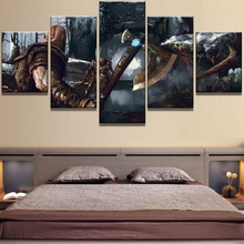 Modular 5 Piece Canvas Art God Of War Game Poster Painting Wall Picture Home Decoration Living Room