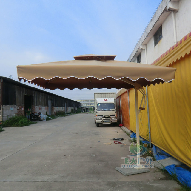 Outdoor Umbrellas Security Guard Property Booth Table Umbrella Advertising  Large Hotel Cafe