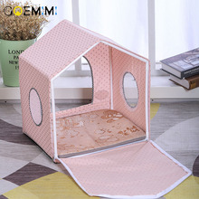 2019 Summer Cat House Detachable Breathable Puppy Dog Kennel Top Quality Cave For Cats Indoor Tent Pet Cozy House summer house
