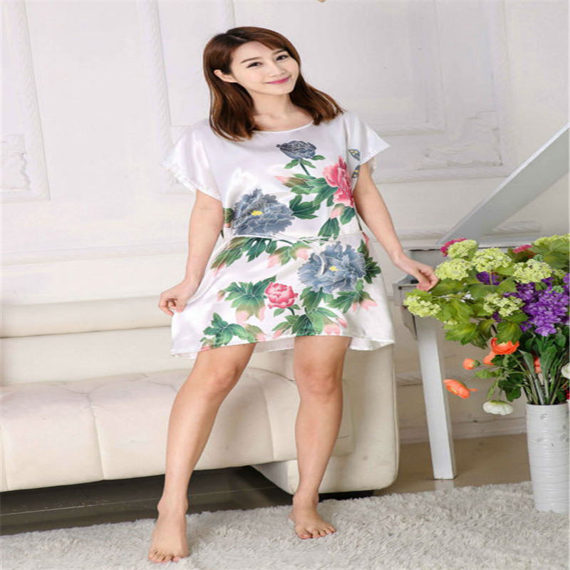 2018 New sleepwear lovely princess leisurewear sleepdress women   nightgown     sleepshirt   Flower nightwear AW7101