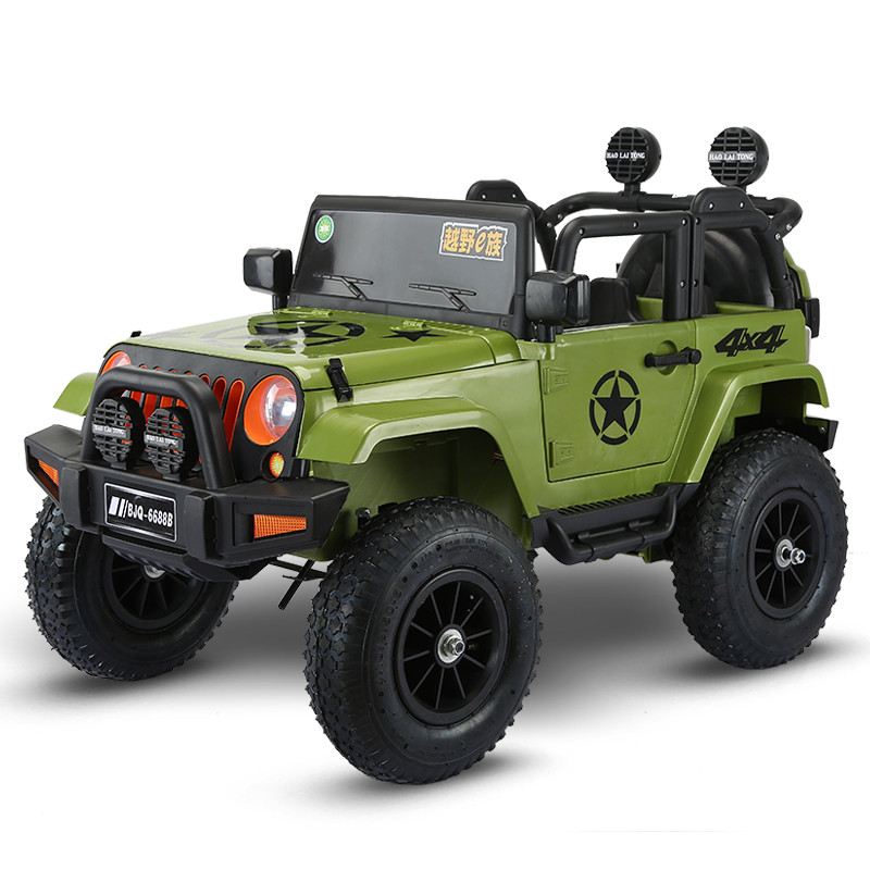 Electric Kids Cars >> Us 601 62 63 Off Four Wheel Drive Kids Electric Cars Children Electric Car Ride On 1 5 Years Riding Toy Off Road Vehicle With Pneumatic Wheel In