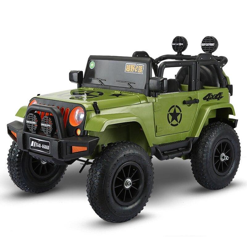 Quatre roues motrices enfants voitures électriques enfants voiture électrique tour sur 1-5 ans jouet d'équitation véhicule tout-terrain avec roue pneumatique - 2