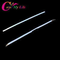 Color My Life 1 Piece Stainless Steel Car Rear Door Trim Rear Trunk Cover Sticker For