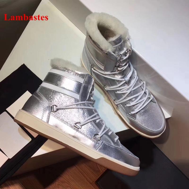 Casual as Zapatos Pic Nieve Botas Mujer Pic Diseño De Tobillo As Las Plata Pisos Plataforma Mujeres Marca Encaje Femenina Invierno Caliente HUUZzaqxwC