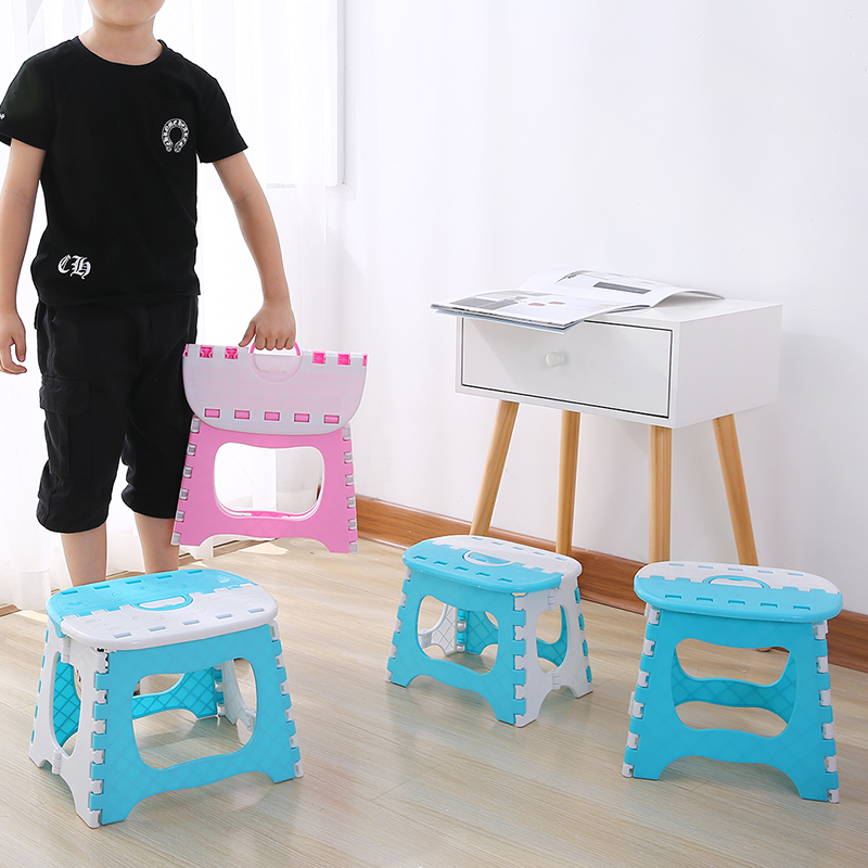 Plastic Folding Stools Thicken Step Portable Child Stools Outdoor Fishing Sitting Sports Home Convenient Folding Step Stool